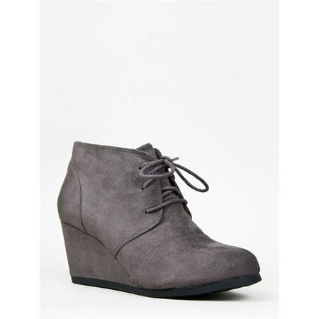 12d7cc1bd26 City Classified - City Classified Rex Women s Lace Up Faux Leather Ankle Wedge  Boots - Walmart.com