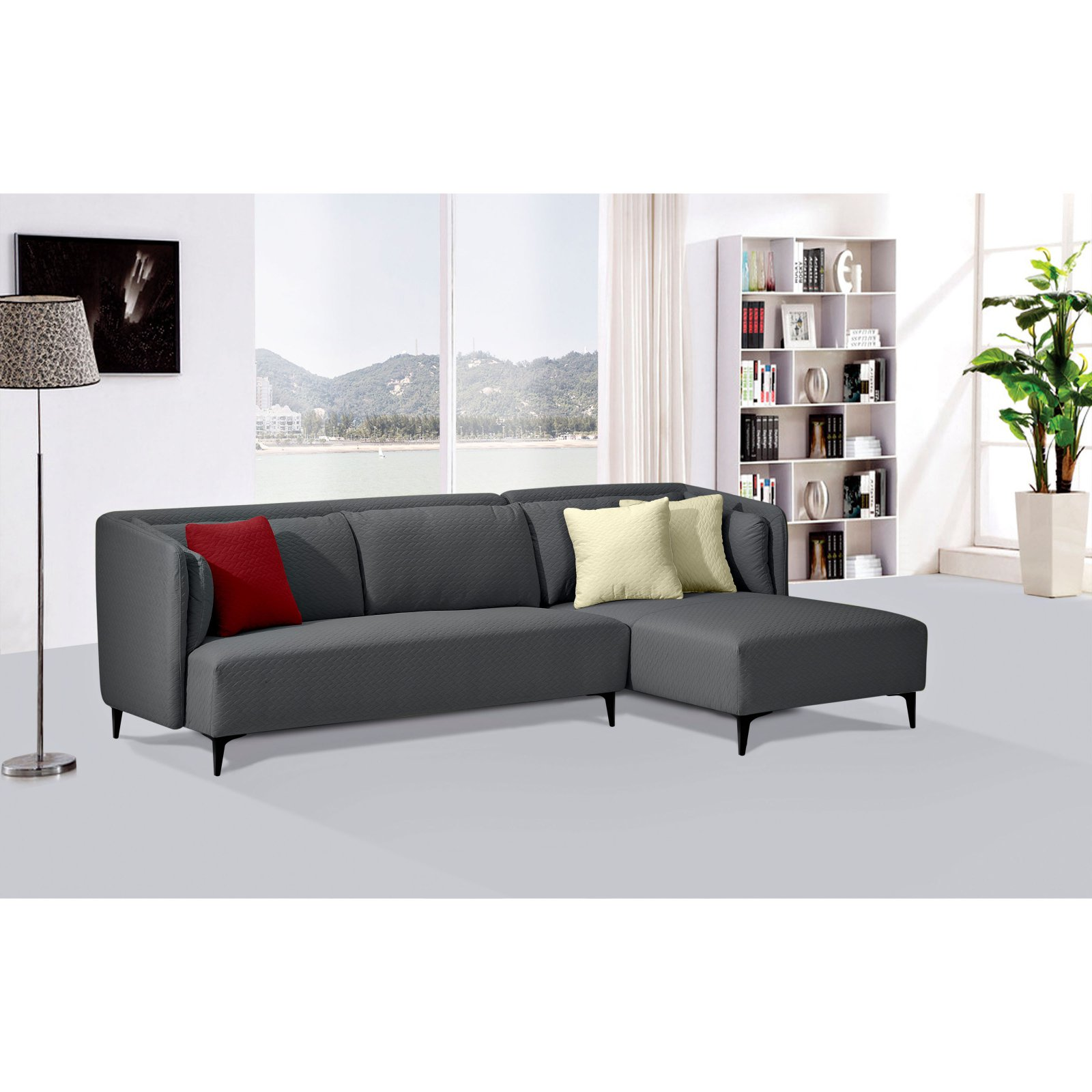 Diamond Sofa Dylan 2 Piece Diamond Quilted Sectional (RF)