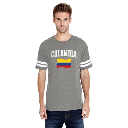 Colombia Home Jersey (Colombia Men Football Fine Jersey Tee)