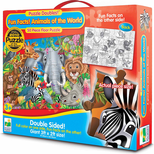 The Learning Journey Puzzle Doubles, Fun Facts! Animals of the World