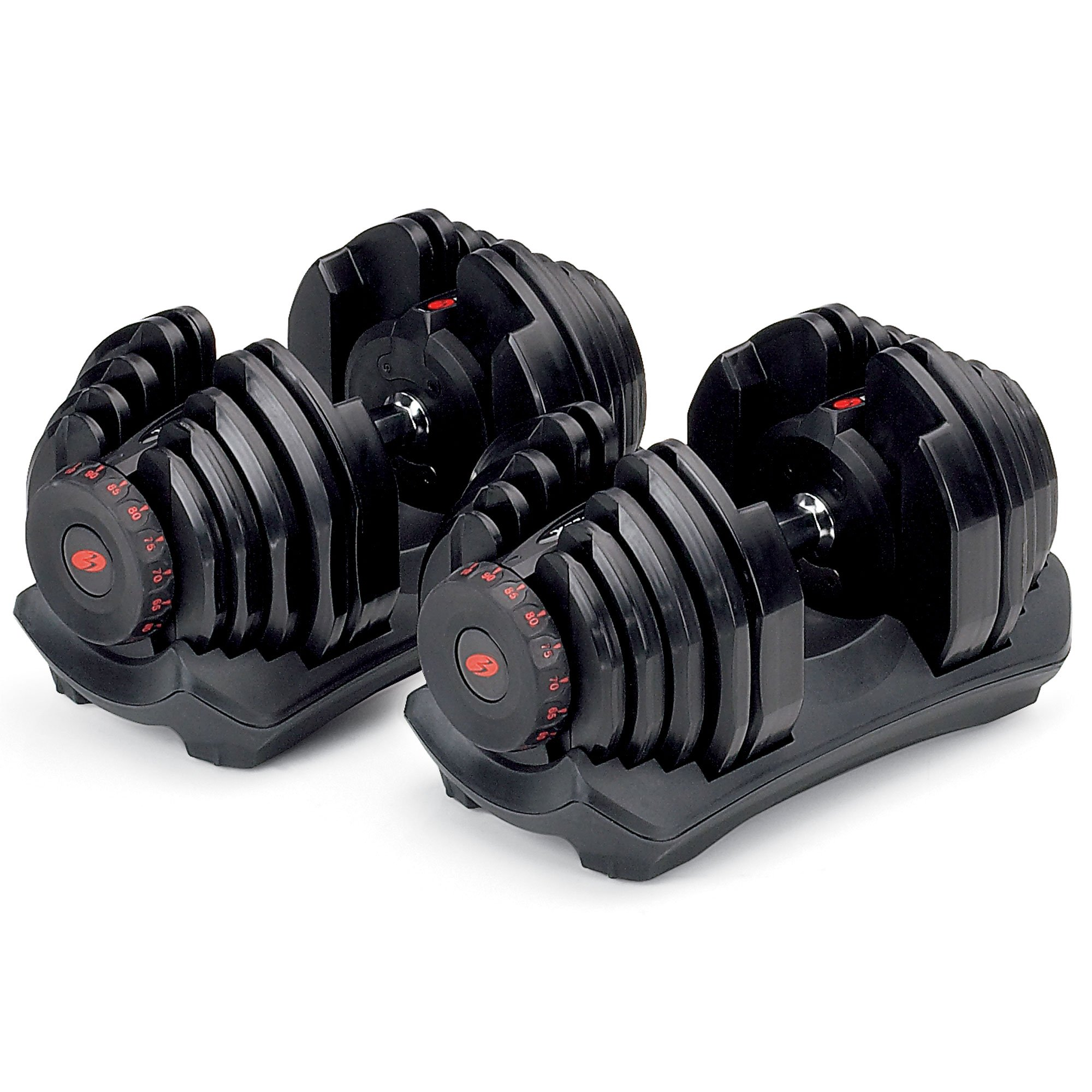 Bowflex SelectTech 1090 Workout Exercise Dumbbells w/ Adjustable Weight (2 Pack)