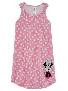Disney Minnie Mouse Toddler Girls Polka Dot Terry Swim Suit Cover Up Dress