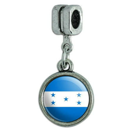Honduras National Country Flag Italian European Style Bracelet Charm Bead