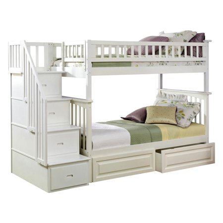 Staircase Twin Over Twin Bunk Bed