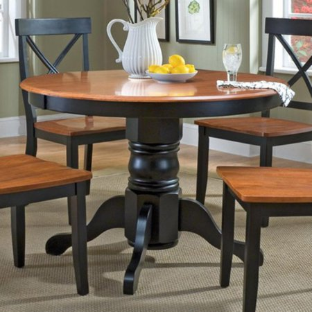 - Home Styles Dining Table, Black/Cottage Oak