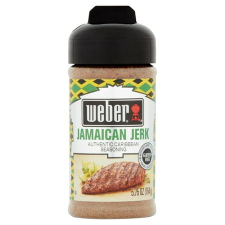 (2 Pack) Weber Jamaican Jerk Authentic Caribbean Seasoning, 5.75