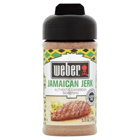 (2 Pack) Weber Jamaican Jerk Authentic Caribbean Seasoning, 5.75 (Jerk Chicken)