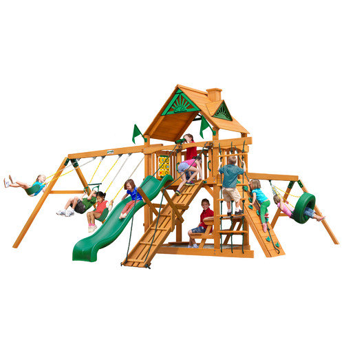 Gorilla Playsets Frontier with Amber Posts Cedar Swing Set