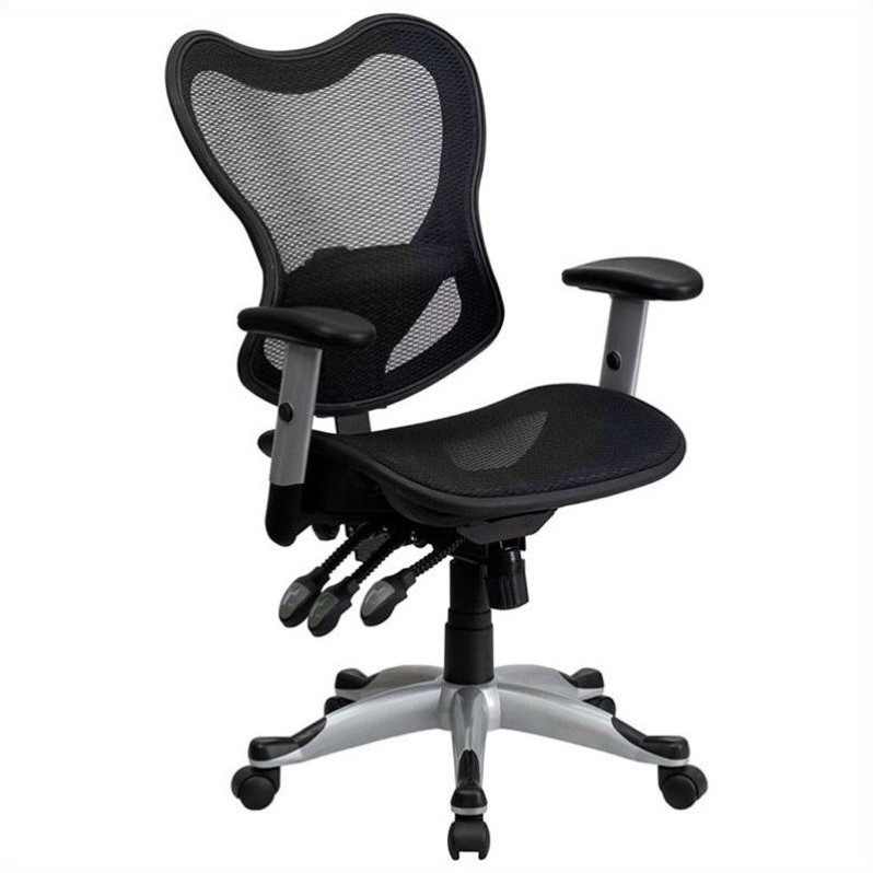 office chair controls. Flash Furniture Mid Back Mesh Office Chair Control In Black By Controls