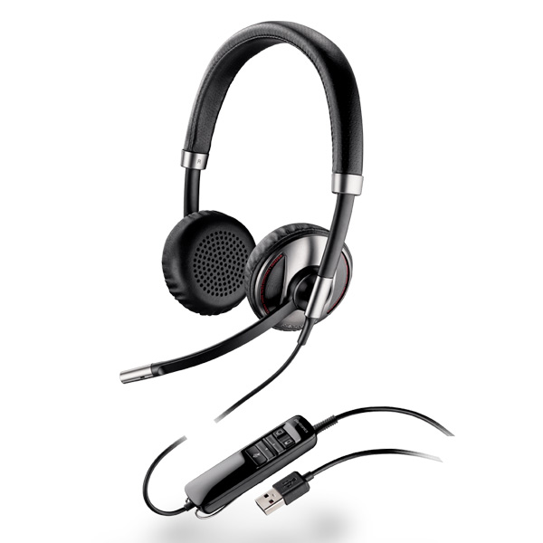 Plantronics Blackwire C720-M Over-the-Head Stereo (Microsoft) Bluetooth-Enabled Corded USB Headset