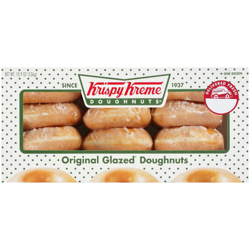 Krispy Kreme Doughnuts Original Glazed 12 Ct Walmart Com