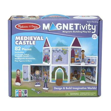 MELISSA DOUG BUILDING PLAY SET MEDIEVAL CASTLE - image 1 de 1