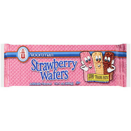 (3 Pack) Voortman Strawberry Wafers, 14.1 oz