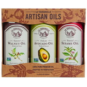 La Tourangelle, Roasted Walnut Oil, Delicate Avocado Oil, Toasted Sesame Oil Favorites Trio of Oils, 3 x 8.45 oz (3 x 250 ml)