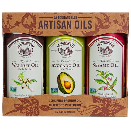 La Tourangelle, Roasted Walnut Oil, Delicate Avocado Oil, Toasted Sesame Oil Favorites Trio of Oils, 3 x 8.45 oz (3 x 250