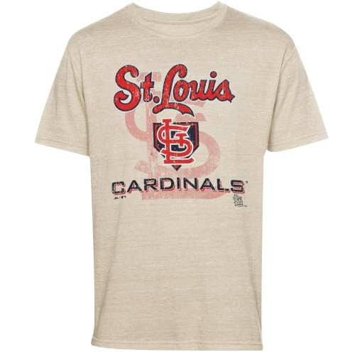 St. Louis Cardinals Majestic Threads Tri-Blend Established Stone T-Shirt - Cream