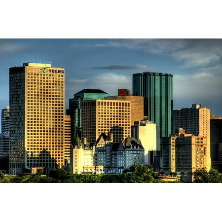 canvas print canada city edmonton skyline skyscrapers cities ...