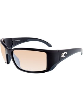 82de78de6a59a Product Image Costa Del Mar Polarized Blackfin BL11OSCP Black Rectangle  Sunglasses