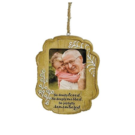 New Picture Frame Ornament Joyfully Remembered Resin Abbey Press