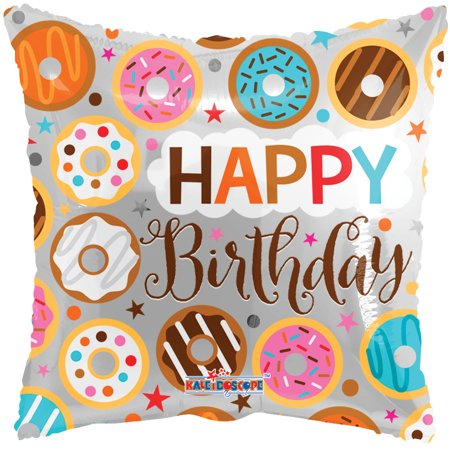 18 quot happy birthday donuts around square shape helium foil