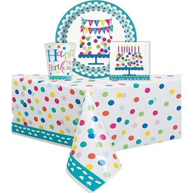 Confetti Cake Themed Birthday Party Set Serves 16 Guest