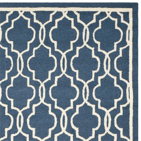 """Safavieh Cambridge 2'6"""" X 4' Hand Tufted Wool Rug in Navy and Ivory - image 2 de 3"""