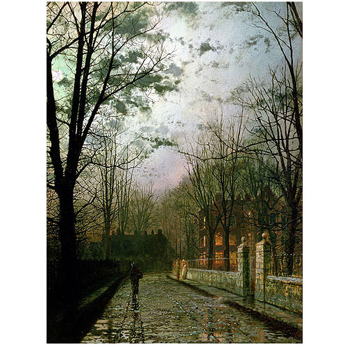 "Trademark Art ""After the Shower"" Canvas Art by John Atkinson Grimshaw"