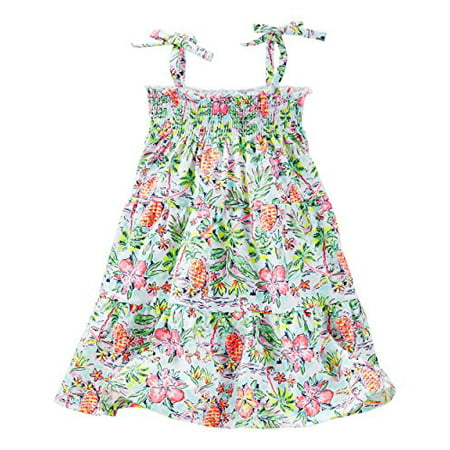 OshKosh B'gosh Little Girls' Smocked Tiered Dress (7 Kids, Multi) - Little Girl Smocked Dresses