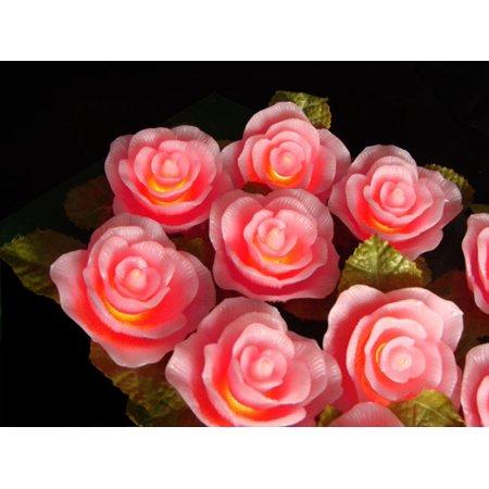 Set of 10 Pink Victorian Rose Flower Novelty Christmas Lights ...
