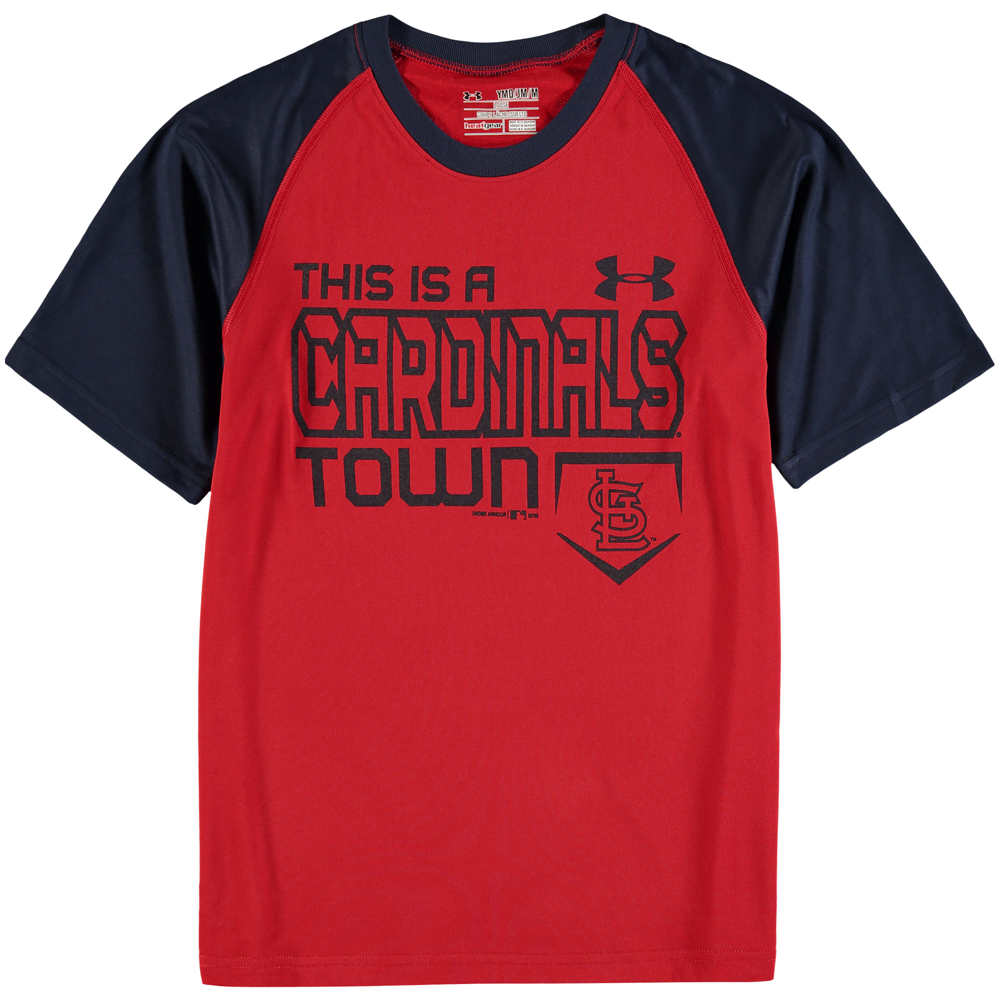 St. Louis Cardinals Under Armour Youth This Town Baseball Performance T-Shirt - Red