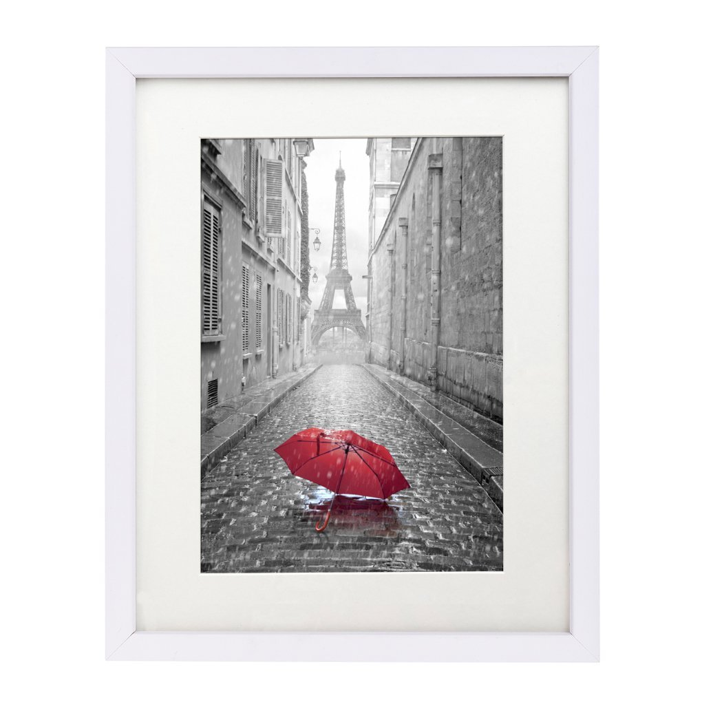 Click here to buy 11x14 White Picture Frame Display 8x10 w Mat or 11x14 w out Mat by Supplier Generic.