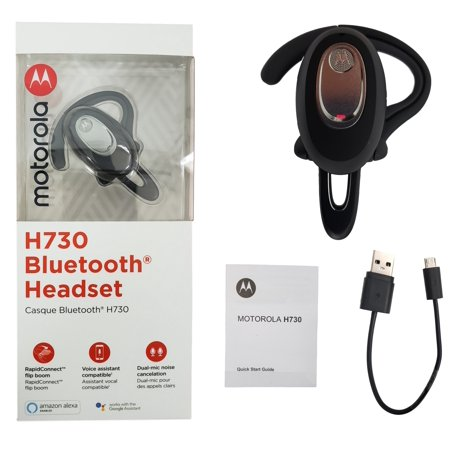 NEW Motorola H730 Bluetooth Wireless Flip Headset with Dual Mics and Noise Canceling- Retail Packaging