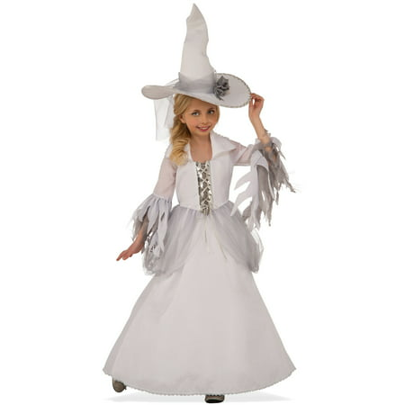 White Witch Child Costume - Halloween Face Paint Ideas White Witch