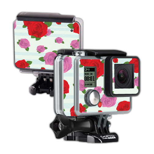 Mightyskins Protective Vinyl Skin Decal Cover for GoPro Hero Camera Digital Camcorder wrap sticker skins Roses