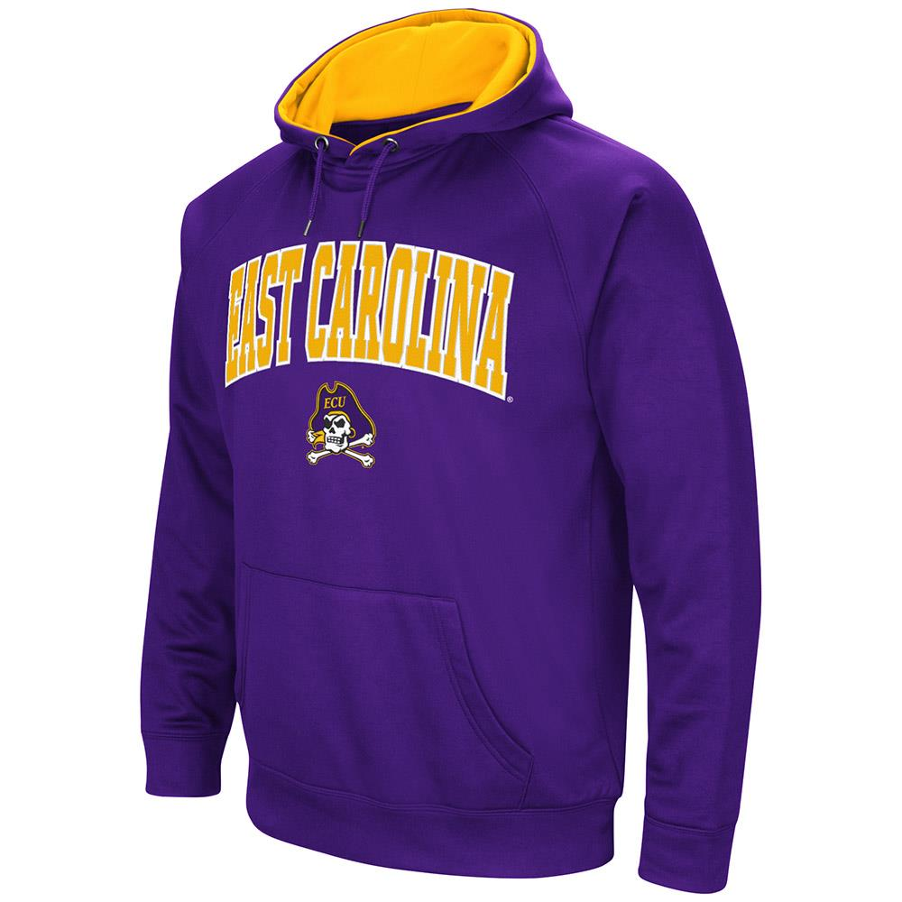 Mens East Carolina Pirates Fleece Pull-over Hoodie