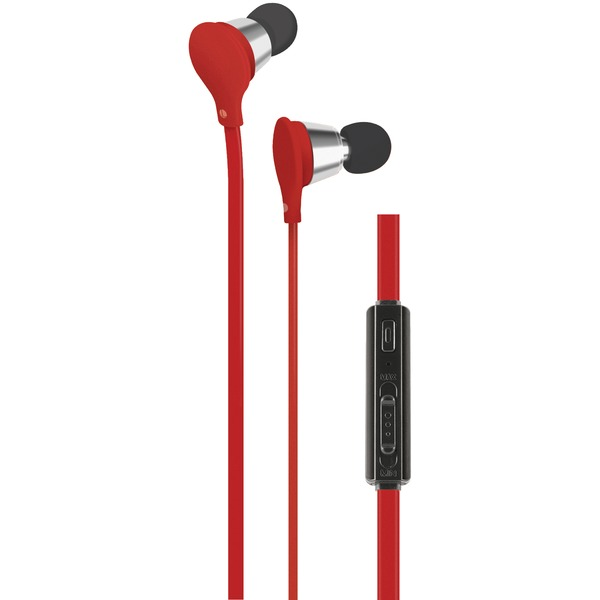 AT&T(R) EBV01-RED Jive Noise-Isolating Earbuds with Microphone & Volume Control (Red) - image 1 de 1
