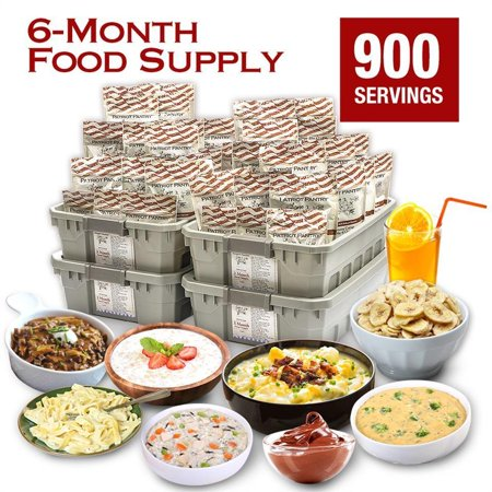 6 Month Emergency Food Supply  900 Servings Of Delicious Recipes For One Adult Stores Up To 25 Years In Slim Line Totes