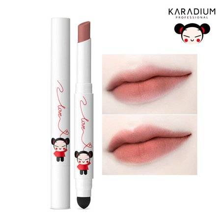 Karadium Pucca Love Edition Smudging Velvet Matte Long Lasting Lip Tint Stick 1.4g - (#06 BROWN