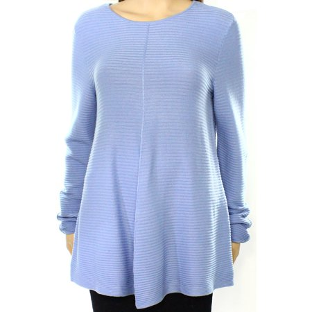 Alfani NEW Blue Womens Size Medium M Ribbed Scoop Neck Swing -
