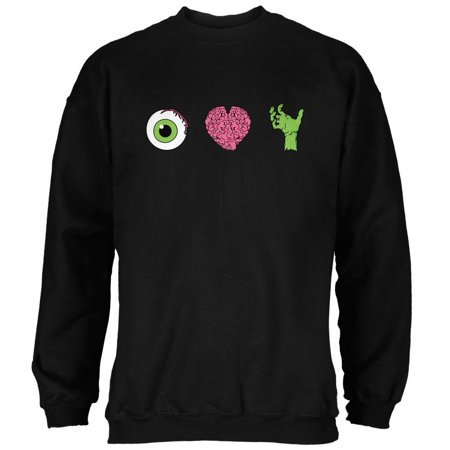 Halloween Eye Heart Zombies Mens Sweatshirt - Eye Heart Halloween
