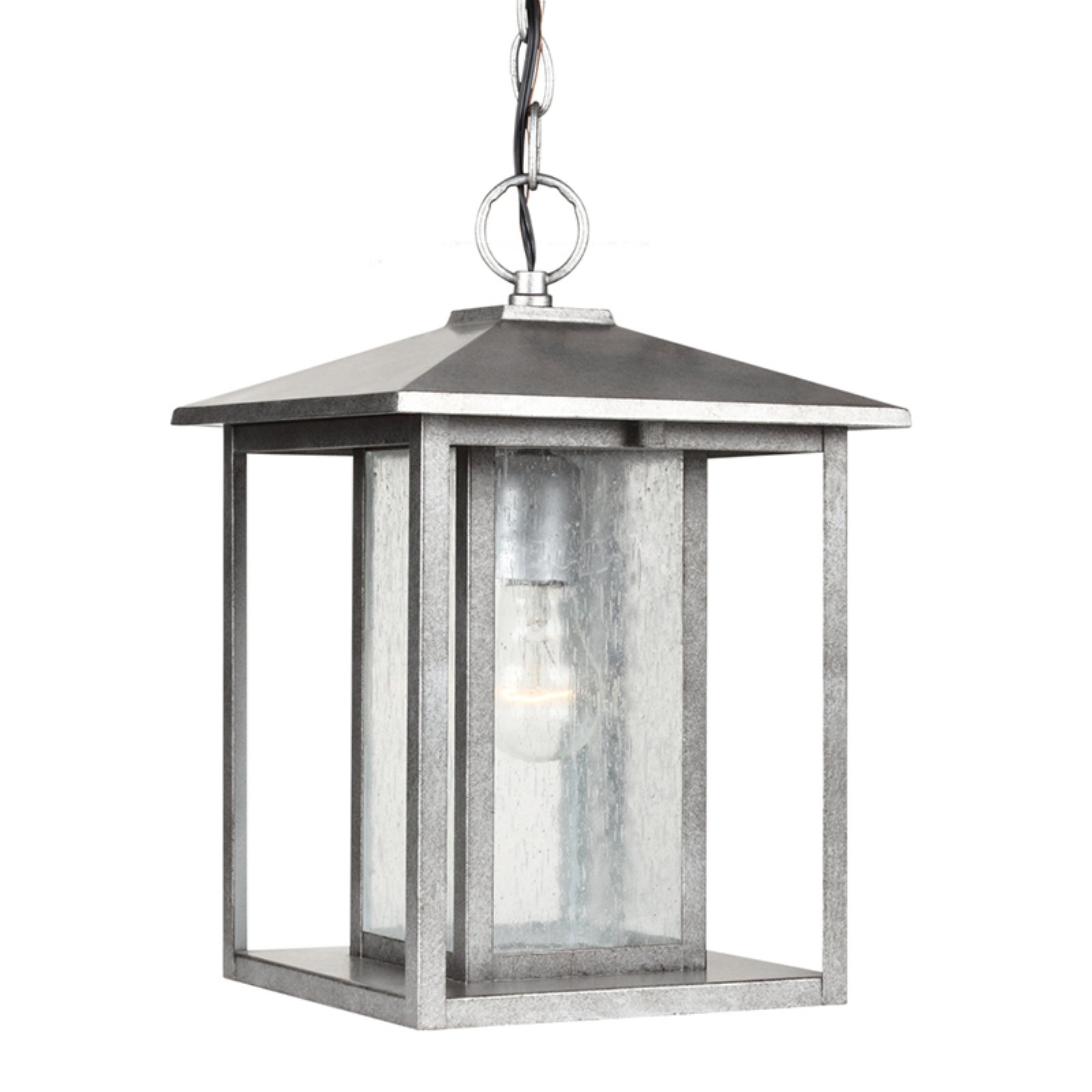 Sea Gull Lighting Hunnington 1-Light Outdoor Pendant - 13.75H in. Weathered Pewter
