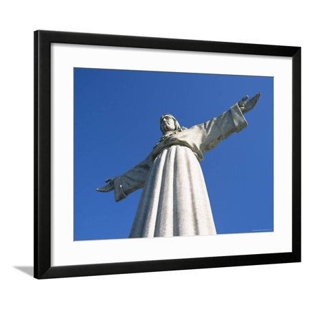 Cristo Rei (Standing Christ) Statue, Erected in 1959, in Cacilhas Suburb, Lisbon, Portugal Framed Print Wall Art By Alain Evrard