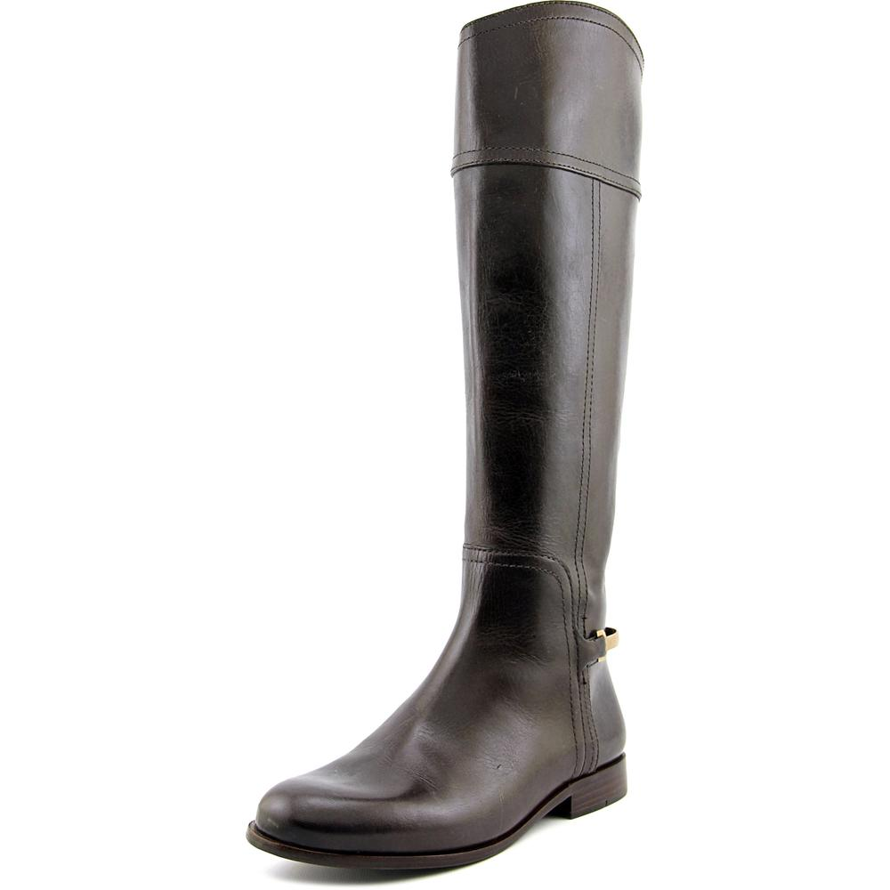 Tory Burch Jess Women  Round Toe Leather Brown Knee High ...