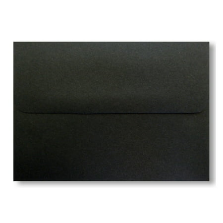 Shipped Free - 50 Jet Black A6 (4-3/4 X 6-1/2) Envelopes 70lb Square Flap for Greeting Cards Invitation Photos Birth Announcement Shower Christening Halloween Thank Wedding Craft From Envelopegallery for $<!---->