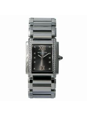 Pre-Owned Patek Philippe Twenty 4 4910/10A Steel Women Watch (Certified Authentic & Warranty)