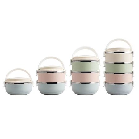 HC-TOP Compact Size Lunch Box Thermal For Food Bento Box Stainless Steel Lunch Box - image 3 de 6