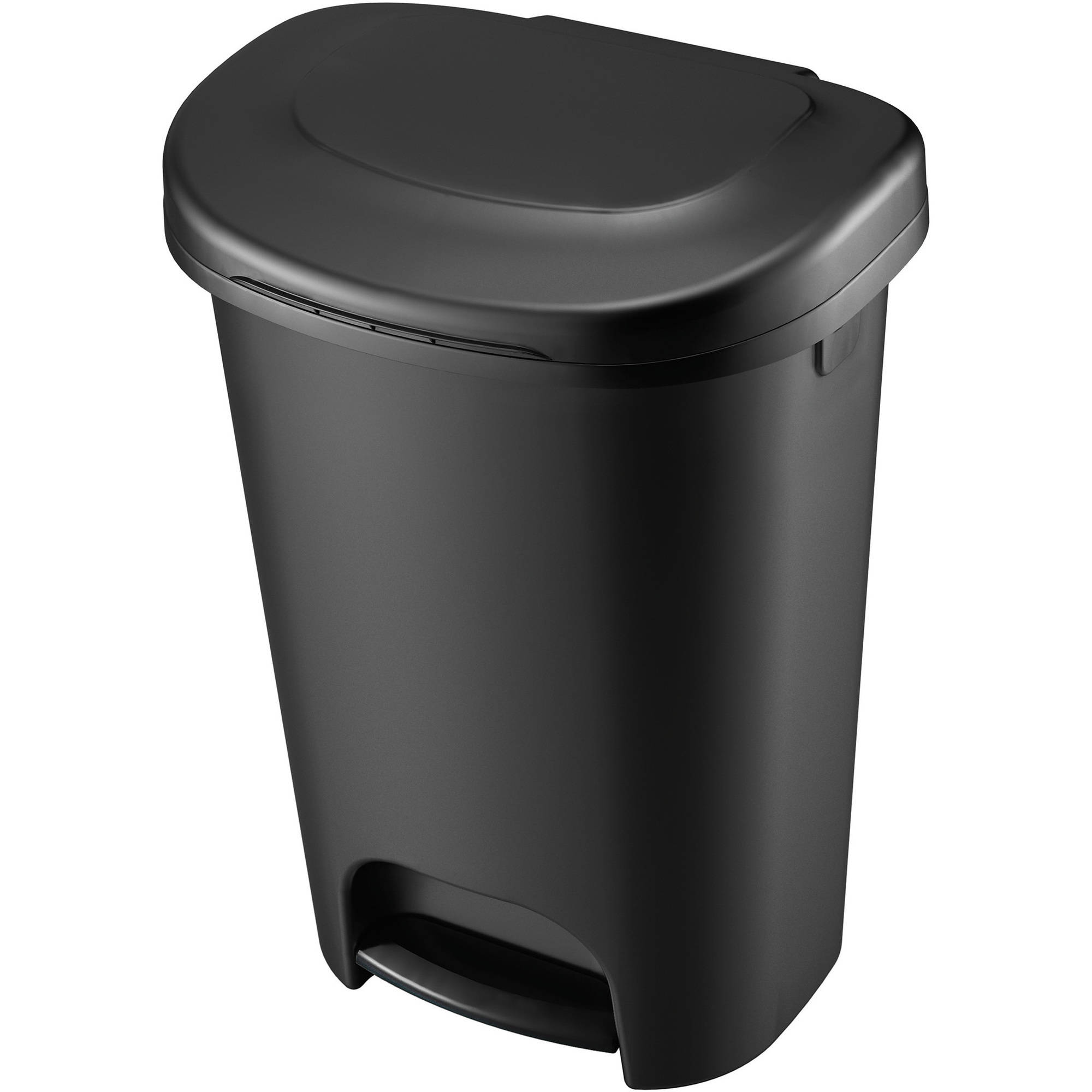 Rubbermaid 13-Gallon Step On Wastebasket, Black by Newell Rubbermaid