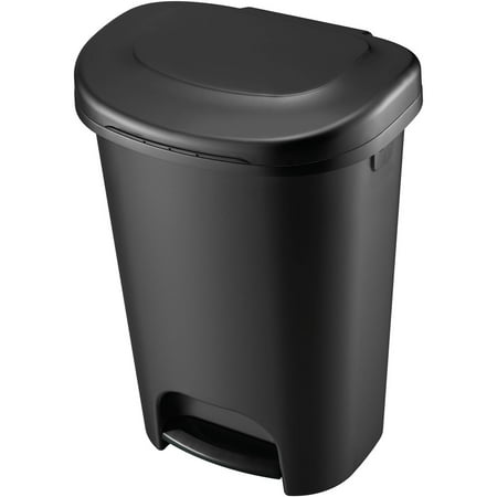 Rubbermaid 13-Gallon Step On Wastebasket, Black