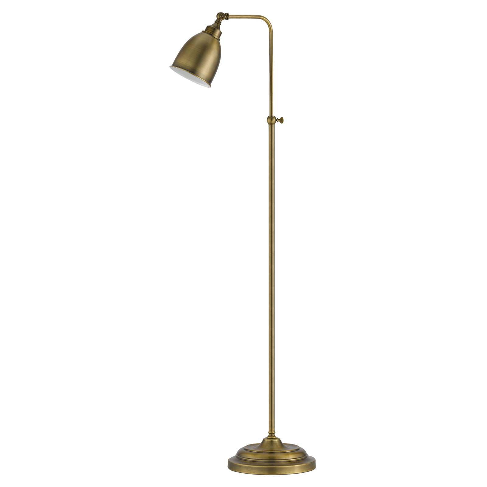 Cal Lighting BO-2032FL Pharmacy Floor Lamp with Adjustable Pole Antique Brass by CAL Lighting