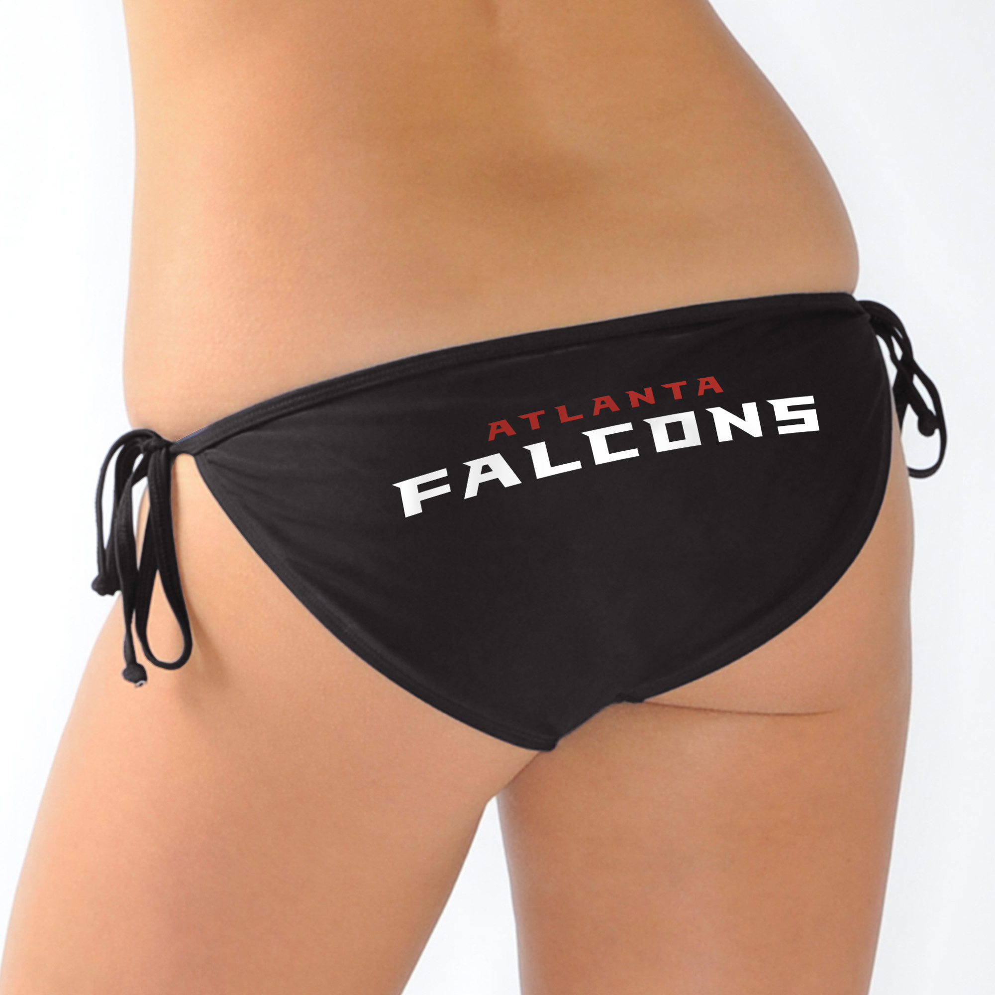 Atlanta Falcons G-III 4Her by Carl Banks Women's Trick Play String Bikini Bottom - Black